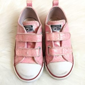 Pink Converse All-Star Velcro sneakers